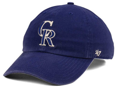 Colorado Rockies '47 MLB Timber Blue CLEAN UP Cap