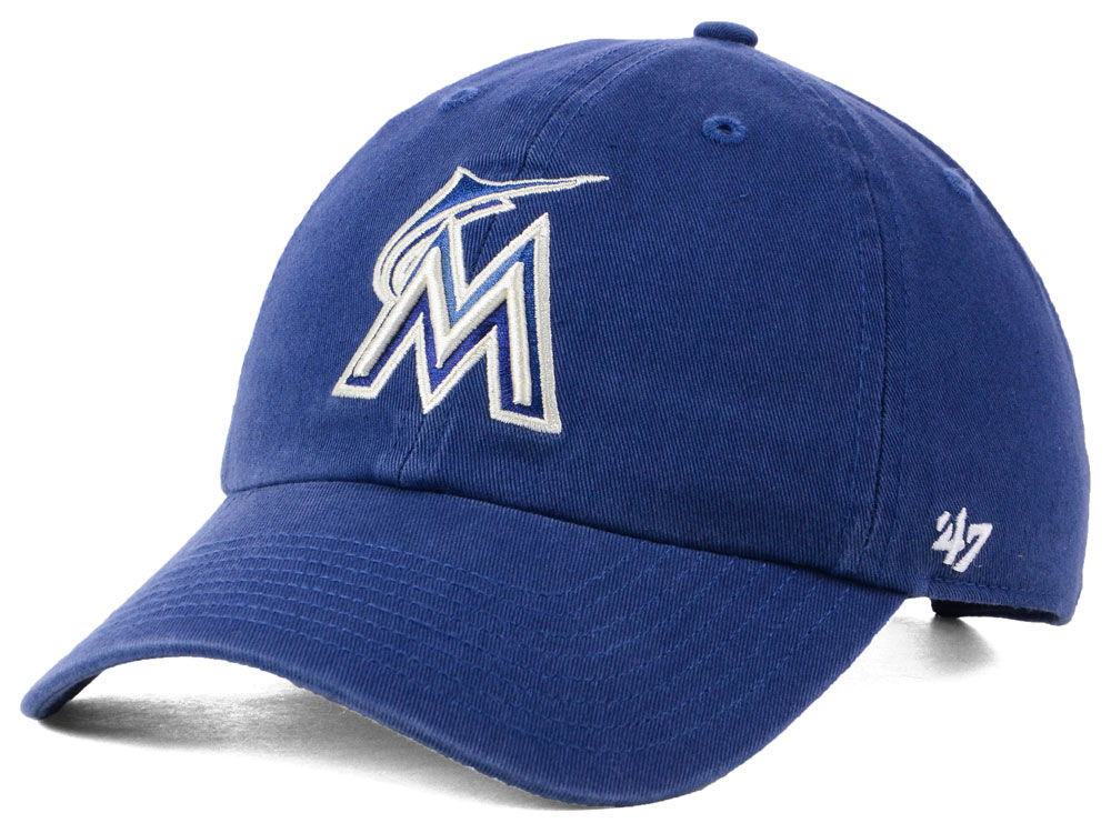 premium selection 7a3d8 041ba sweden miami marlins 47 mlb timber blue clean up cap ac974 41c58