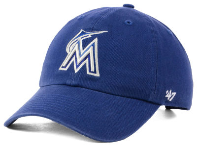 Miami Marlins '47 MLB Timber Blue CLEAN UP Cap