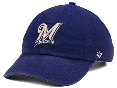 Milwaukee Brewers '47 MLB Timber Blue CLEAN UP Cap