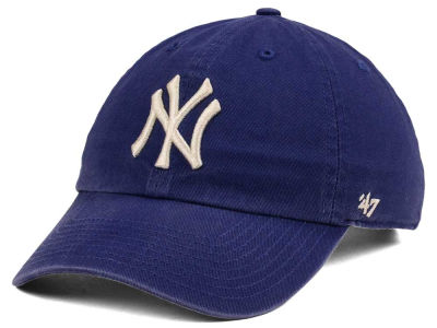New York Yankees '47 MLB Timber Blue CLEAN UP Cap