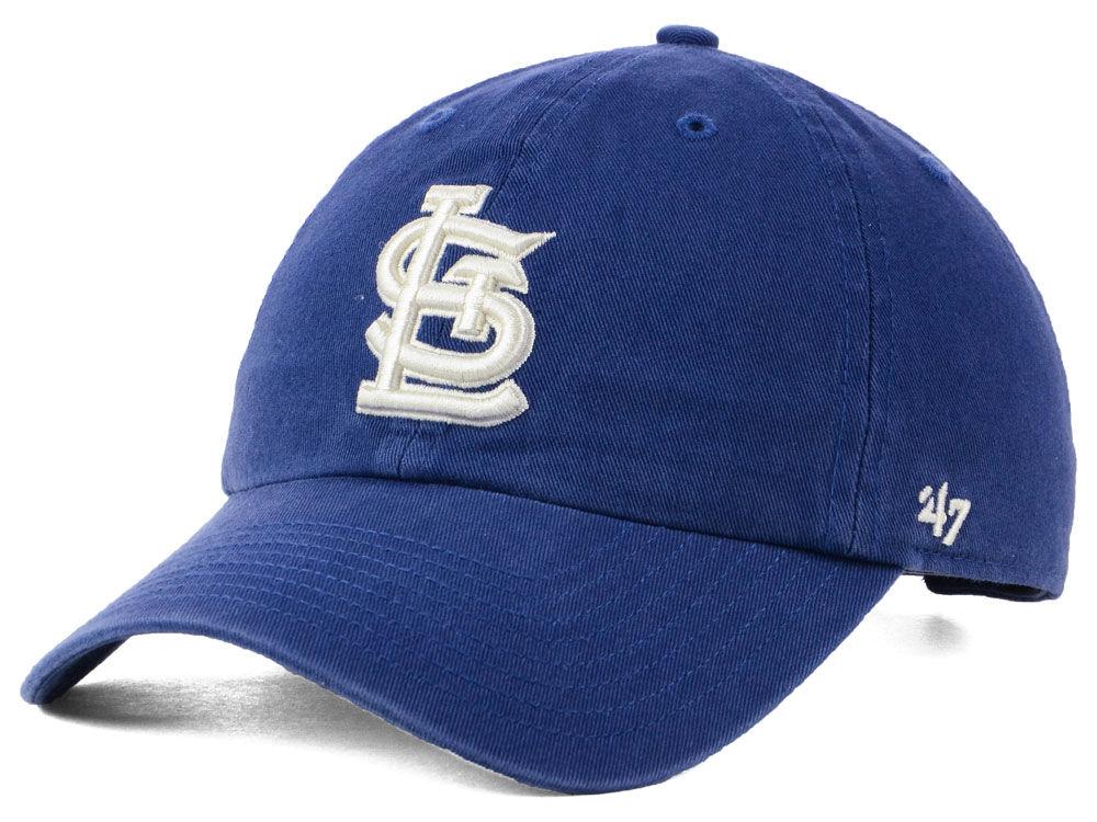 St. Louis Cardinals  47 MLB Timber Blue CLEAN UP Cap  3b26013b411