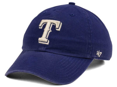 Texas Rangers '47 MLB Timber Blue CLEAN UP Cap