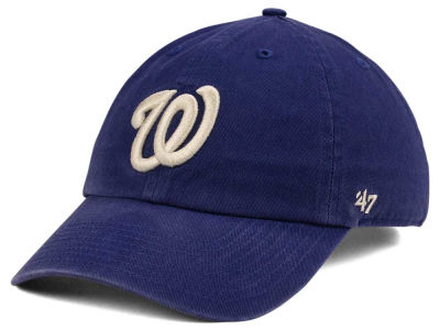 Washington Nationals '47 MLB Timber Blue CLEAN UP Cap