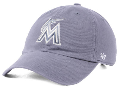 Miami Marlins '47 MLB Dark Gray '47 CLEAN UP Cap