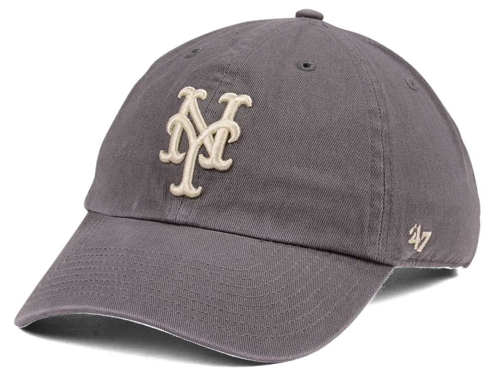 promo code a84f1 2b0bc ... purchase new york mets 47 mlb dark gray 47 clean up cap lids a339f debf0