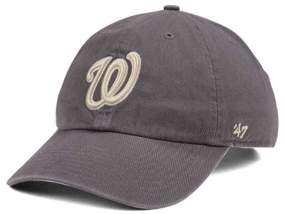 Washington Nationals '47 MLB Dark Gray '47 CLEAN UP Cap