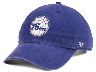 Philadelphia 76ers '47 NBA Moss CLEAN UP Cap