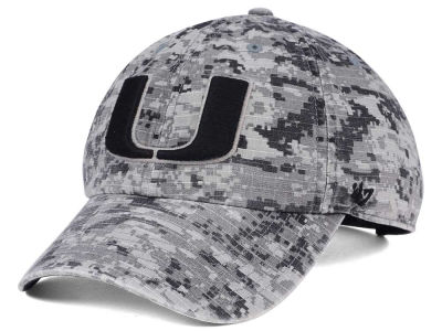 Miami Hurricanes '47 NCAA Operation Hat Trick Camo Nilan '47 CLEAN UP Cap