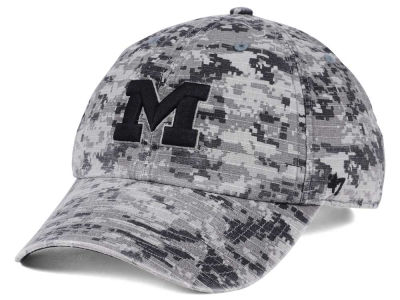 Michigan Wolverines '47 NCAA Operation Hat Trick Camo Nilan '47 CLEAN UP Cap