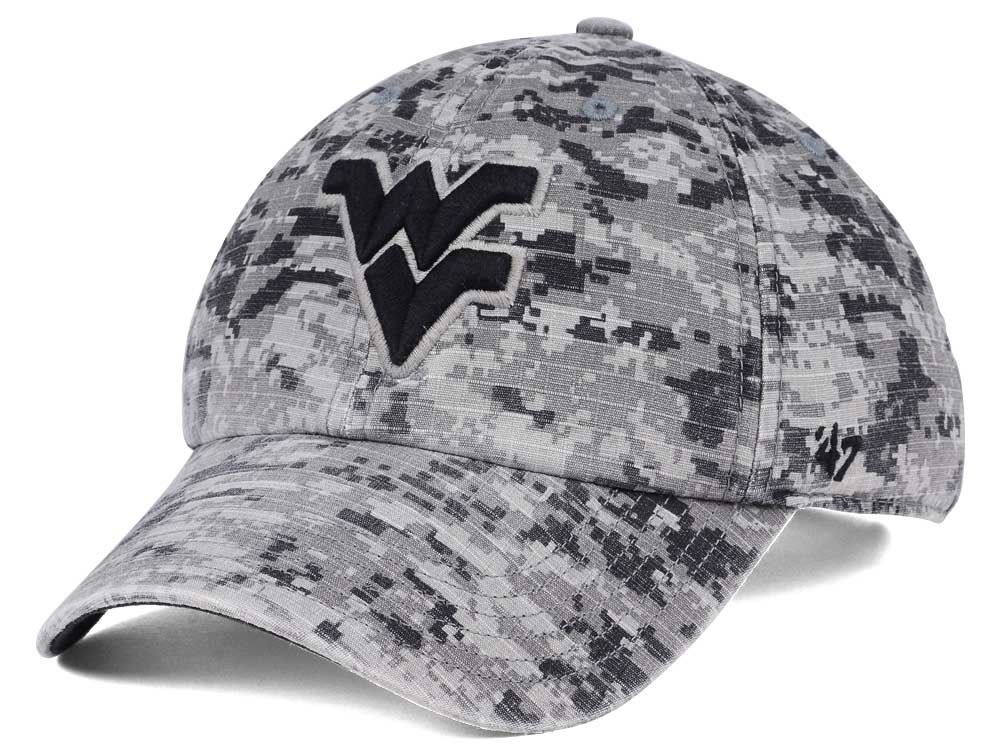 West Virginia Mountaineers  47 NCAA Operation Hat Trick Camo Nilan  47  CLEAN UP Cap  d3bb9a32199e