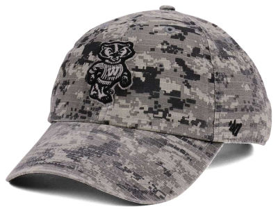 Wisconsin Badgers '47 NCAA Operation Hat Trick Camo Nilan '47 CLEAN UP Cap