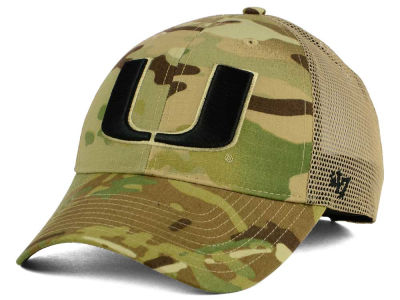 Miami Hurricanes '47 NCAA Operation Hat Trick Thompson '47 CLEAN UP Cap