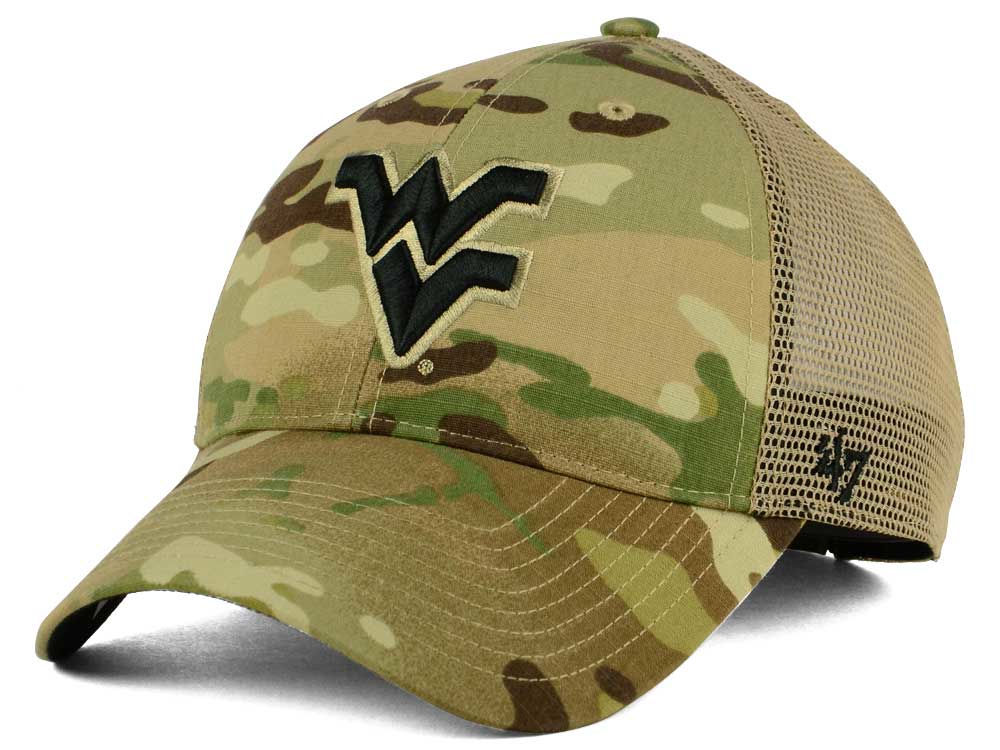 West Virginia Mountaineers  47 NCAA Operation Hat Trick Thompson  47 CLEAN  UP Cap  d14d2afd08ad