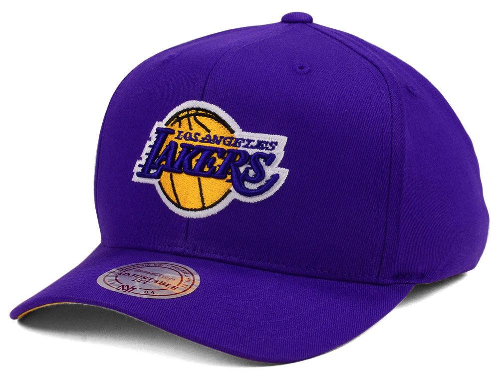 Los Angeles Lakers Mitchell   Ness NBA X Flexfit 110 Snapback Cap ... 0b8a485e8