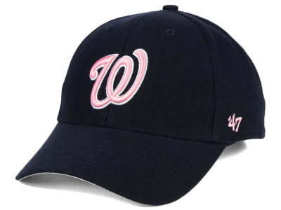 Washington Nationals '47 MLB Navy Pink MVP Cap