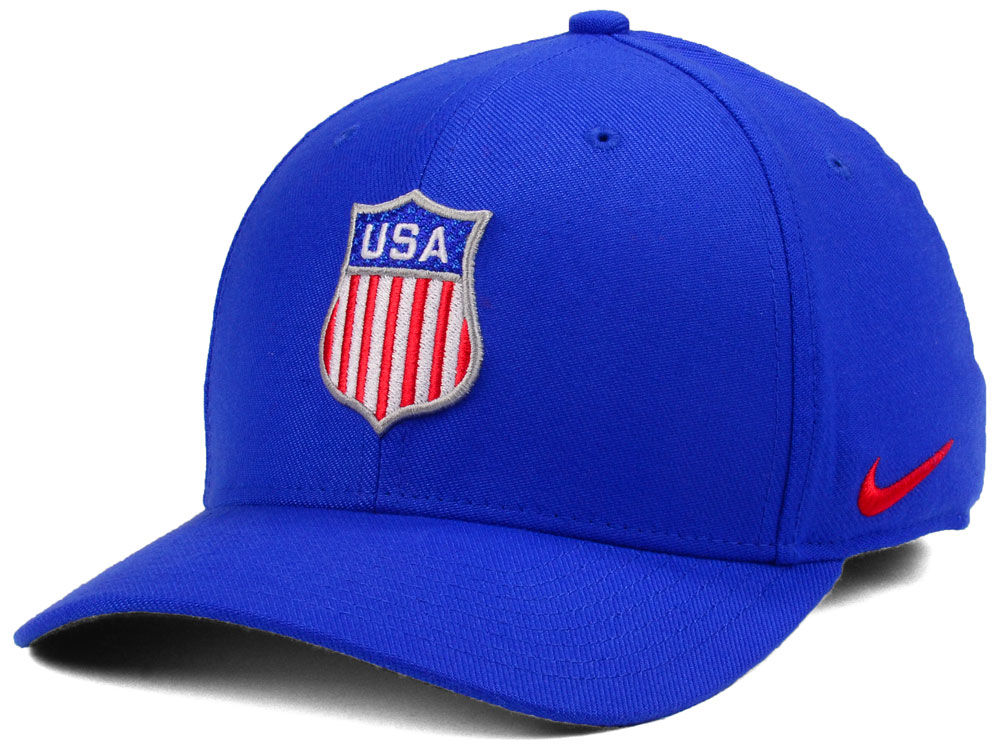 0a97c9c319a USA Hockey Nike 2018 NHL Olympic Swooshflex Cap