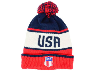 USA Hockey Nike 2018 NHL Olympic Script Pom Knit