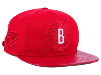 Brooklyn Nets Pro Standard NBA Red on Red Strapback Cap