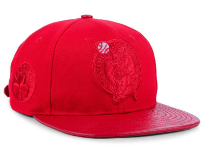 Boston Celtics Pro Standard NBA Red on Red Strapback Cap