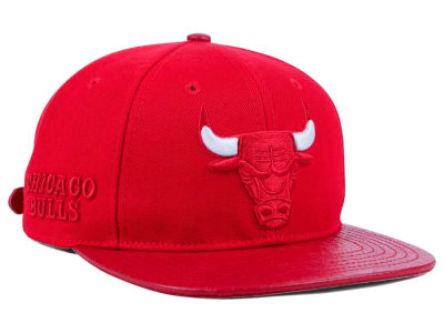 Chicago Bulls Pro Standard NBA Red on Red Strapback Cap