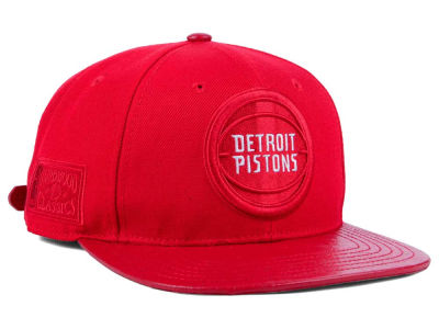 Detroit Pistons Pro Standard NBA Red on Red Strapback Cap