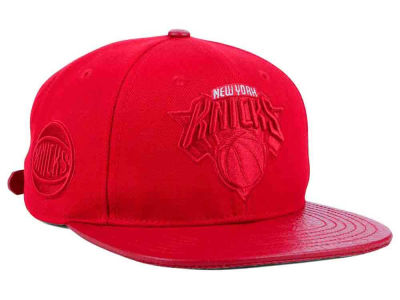 New York Knicks Pro Standard NBA Red on Red Strapback Cap