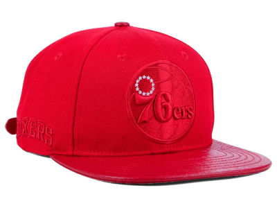 Philadelphia 76ers Pro Standard NBA Red on Red Strapback Cap
