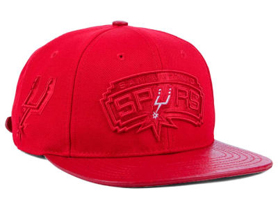 San Antonio Spurs Pro Standard NBA Red on Red Strapback Cap
