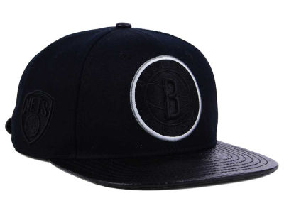 Brooklyn Nets Pro Standard NBA Blackout Strapback Cap
