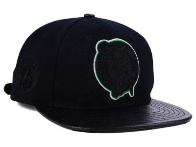 Boston Celtics Pro Standard NBA Blackout Strapback Cap