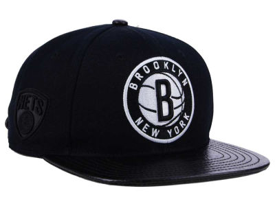 Brooklyn Nets Pro Standard NBA Black White Strapback Cap