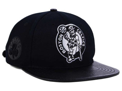 Boston Celtics Pro Standard NBA Black White Strapback Cap