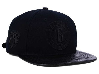 Brooklyn Nets Pro Standard NBA Black on Black Strapback Cap