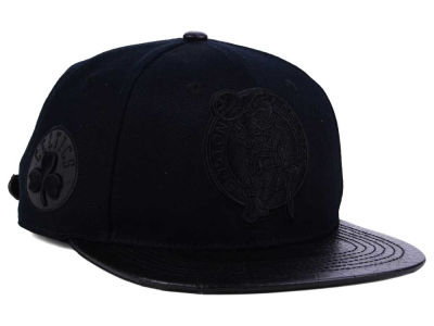 Boston Celtics Pro Standard NBA Black on Black Strapback Cap