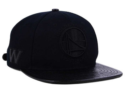 Golden State Warriors Pro Standard NBA Black on Black Strapback Cap