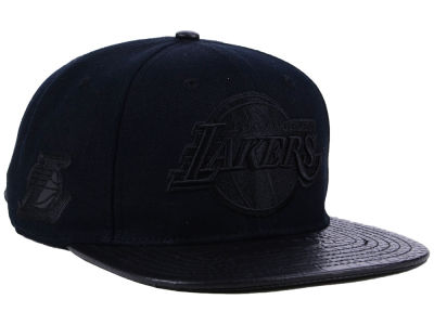 Los Angeles Lakers Pro Standard NBA Black on Black Strapback Cap