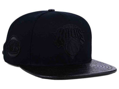 New York Knicks Pro Standard NBA Black on Black Strapback Cap