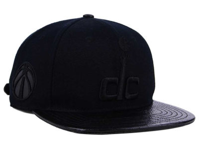 Washington Wizards Pro Standard NBA Black on Black Strapback Cap