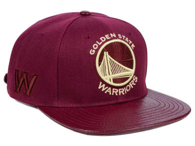 Golden State Warriors Pro Standard NBA Wine Strapback Cap