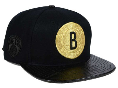 Brooklyn Nets Pro Standard NBA Gold Strapback Cap