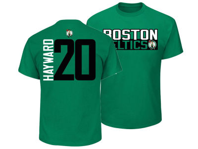 Boston Celtics Gordon Hayward Majestic NBA Men's Vertical Name and Number T-Shirt
