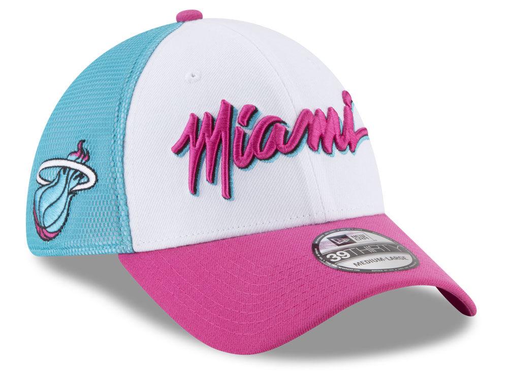 47110c357cf Miami Heat New Era NBA Youth City Series 39THIRTY Cap