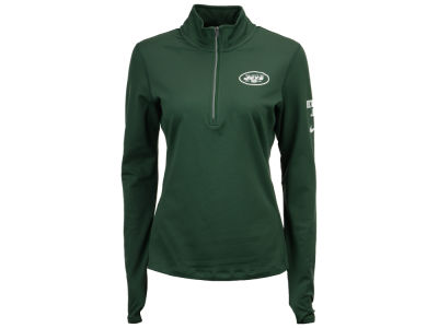 New York Jets Nike NFL Women's Tailgate Element Quarter Zip Pullover
