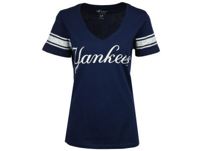 New York Yankees G-III Sports MLB Women's First Pick Sleeve Stripe T-Shirt