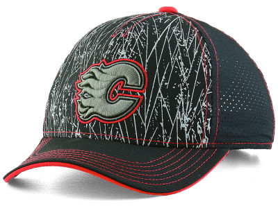Calgary Flames Outerstuff NHL Youth On-Ice Structured Adjustable Cap