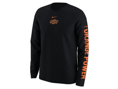 Oklahoma State Cowboys Nike NCAA Men's Fresh Trainer Hook Long Sleeve T-Shirt