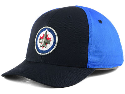 Winnipeg Jets Outerstuff NHL Toddler Colorblock Structured Adjustable Cap