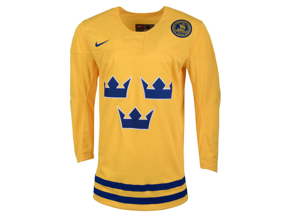 15a790174 Sweden Hockey Nike IIHF Men s Replica Hockey Jersey