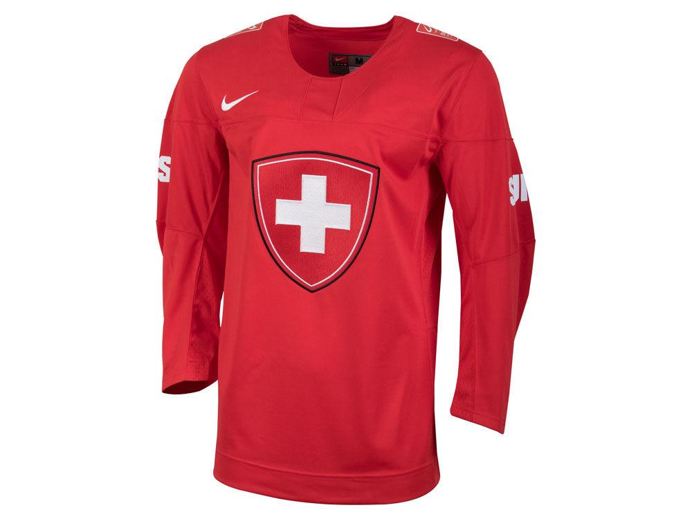 switzerland hockey nike iihf mens replica hockey jersey